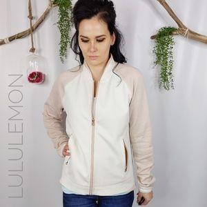 LULULEMON Var-city bomber jacket white pink 0354